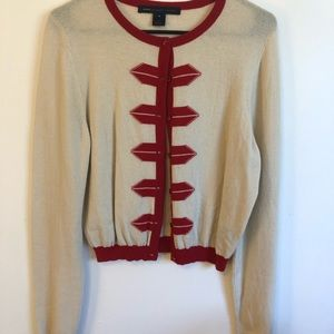 Cream and red Marc by Marc Jacobs cardigan